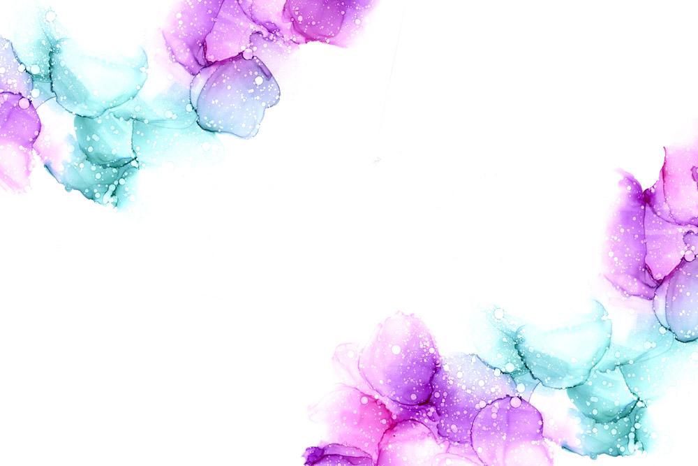 Turvapaketti - sininen ja pinkki huoleton pilvi vesiväreissä